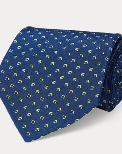 Patterned Silk Crepe Tie