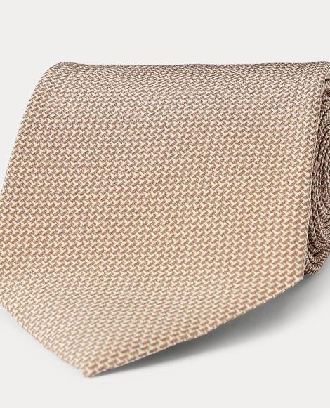Print Silk Crepe Tie
