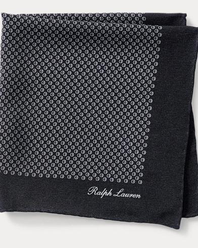 Print Silk Crepe Pocket Square