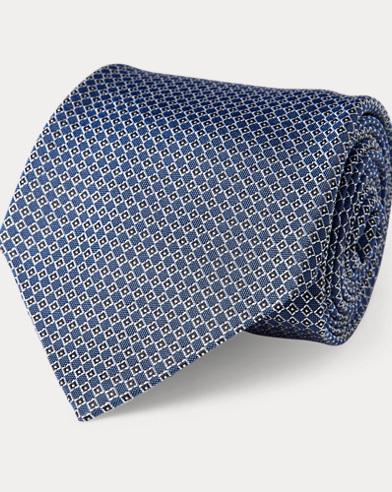 Diamond-Woven Silk Tie