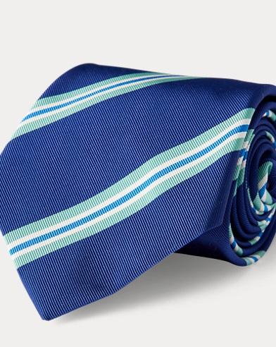 Striped Silk-Blend Mogador Tie