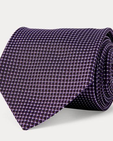 Grid Silk Jacquard Tie