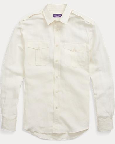 Silk-Linen Dress Shirt