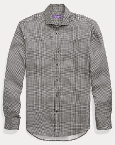 Houndstooth Silk Shirt