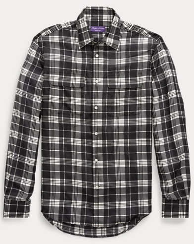 Plaid Silk Shirt