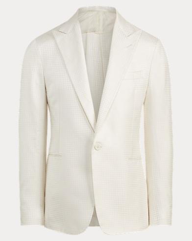 Houndstooth Silk Tuxedo Jacket