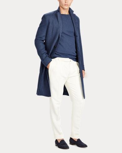 Basket-Weave Linen Topcoat