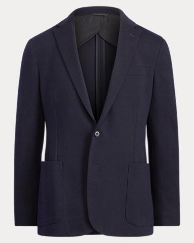 Knit Cotton-Blend Sport Coat