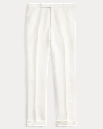 Pleated Basket-Weave Trouser