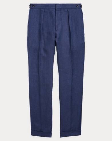 Linen Herringbone Trouser