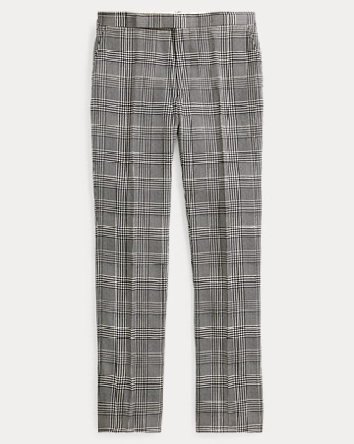 Glen Plaid Silk Trouser