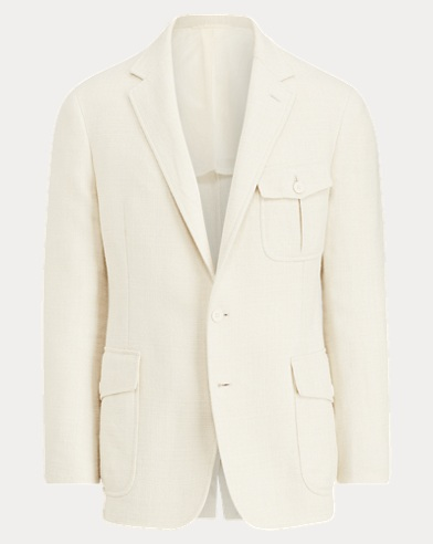 Slub Stretch Twill Suit Jacket