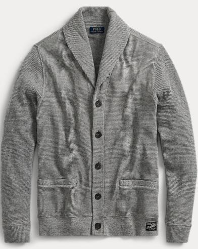 Waffle-Knit Cotton Cardigan