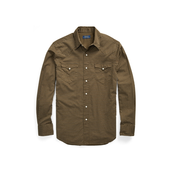 Ralph Lauren Classic Fit Star Twill Shirt Micro Star L