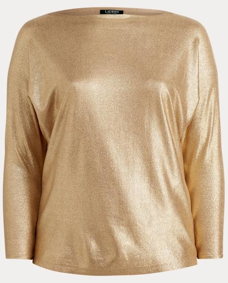 Metallic Cotton Dolman Sweater