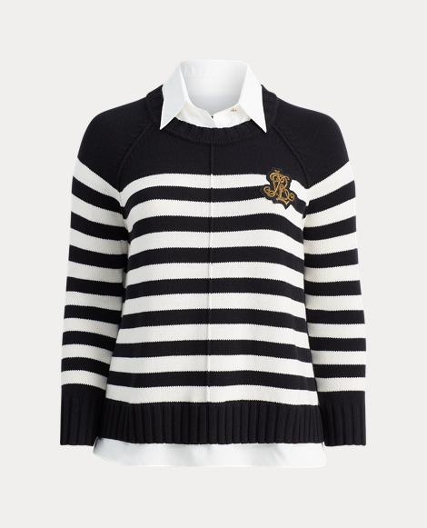 Striped Layered Crest Sweater