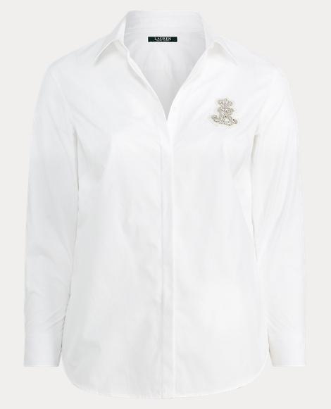 Rhinestone Poplin Shirt