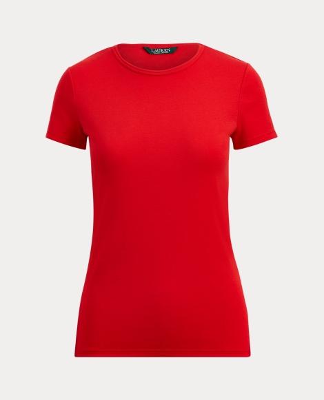 Ribbed Cotton Crewneck T-Shirt