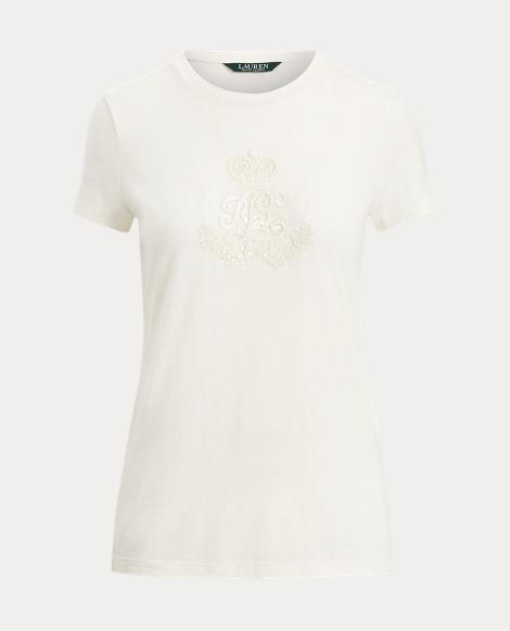 Beaded LRL Jersey T-Shirt