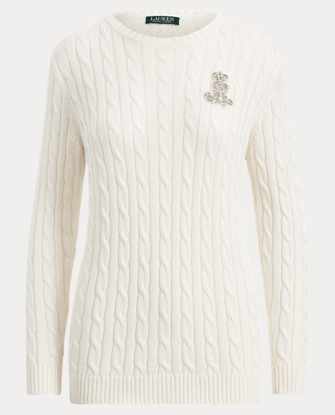 Crest Cable-Knit Sweater