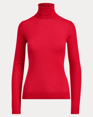 Ribbed Silk-Blend Turtleneck