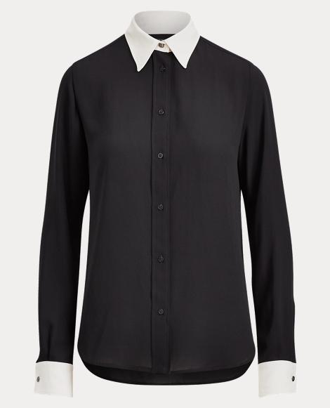 Georgette Button-Down Shirt