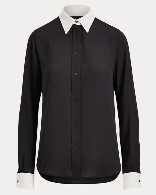 Georgette Button Down Shirt by Ralph Lauren