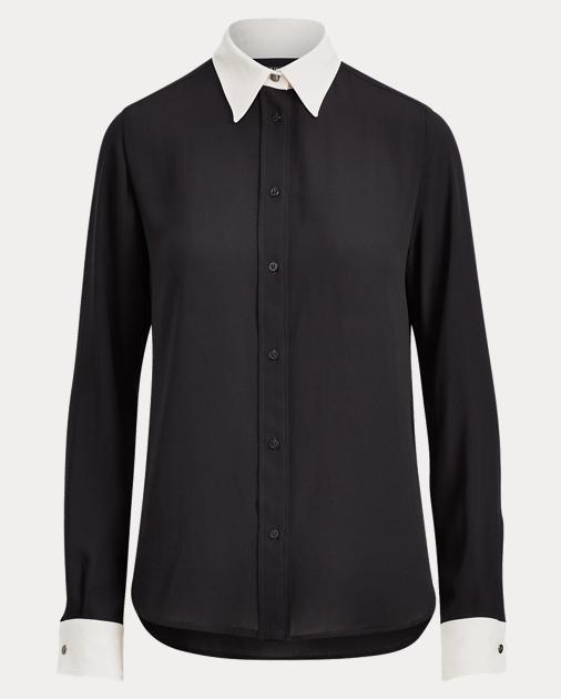 Georgette Button Down Shirt by Ralph Lauren