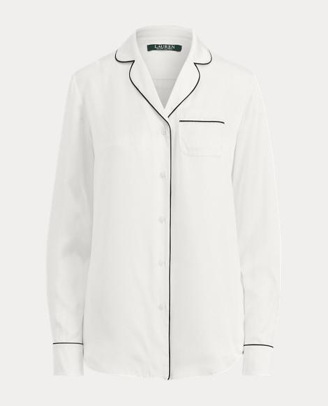 Silk Charmeuse Pajama Shirt