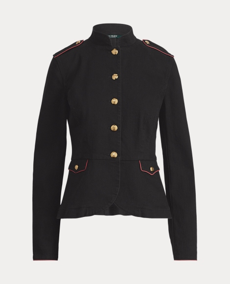 Stretch Denim Officer's Jacket