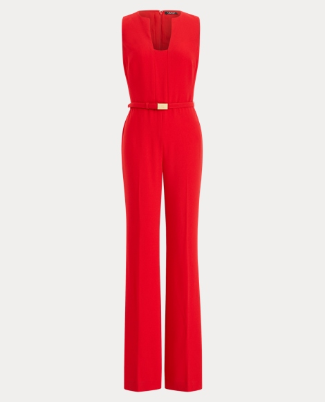 Crepe Wide-Leg Jumpsuit