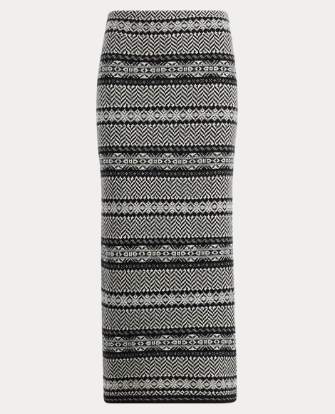 Fair Isle Wool-Cashmere Skirt