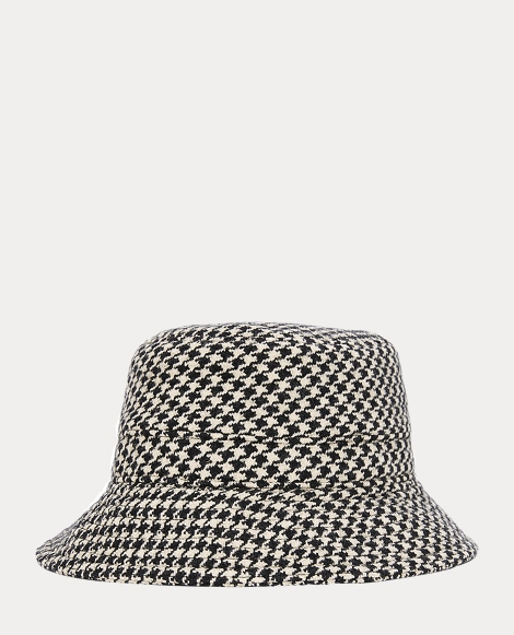 Wool-Cotton Tweed Bucket Hat