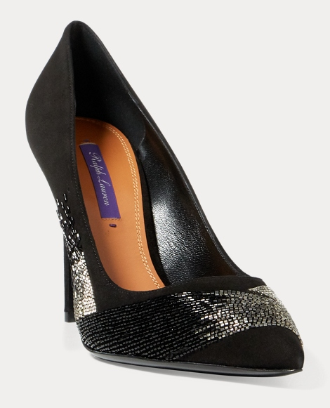 Celia Beaded Suede Pump