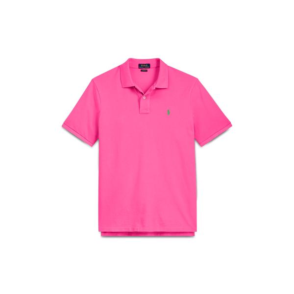 Ralph Lauren Classic Fit Cotton Mesh Polo Baja Pink S