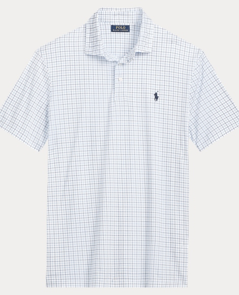 Plaid Soft-Touch Polo Shirt