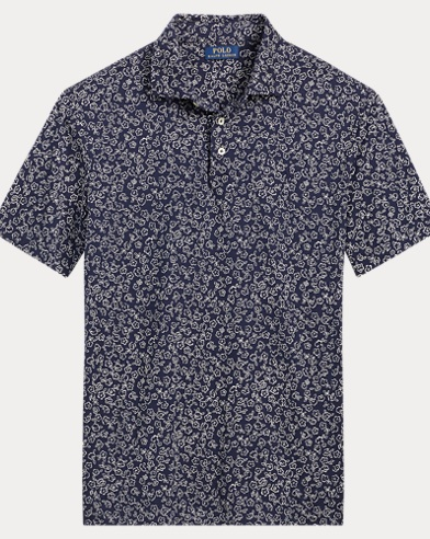 Floral Soft-Touch Polo Shirt