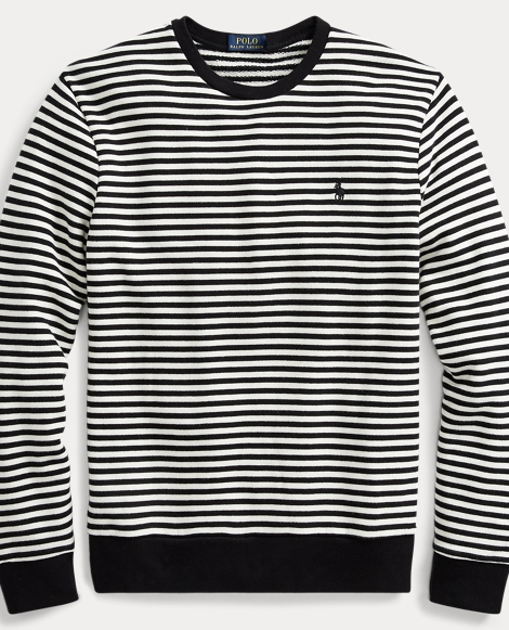 Striped Cotton Terry Pullover