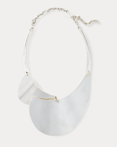 Silver-Plated Bib Necklace