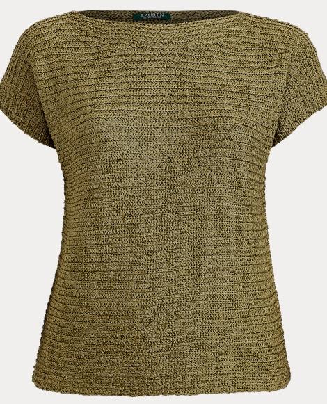 Boatneck Short-Sleeve Sweater