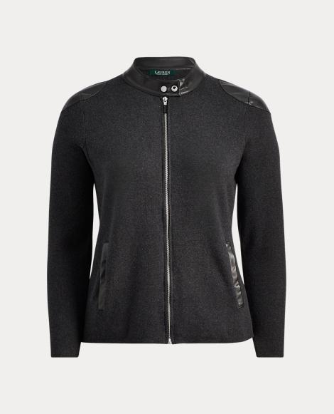 Stretch Cotton Moto Jacket