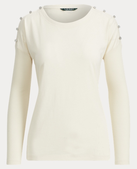 Lace-Up Stretch Cotton Top