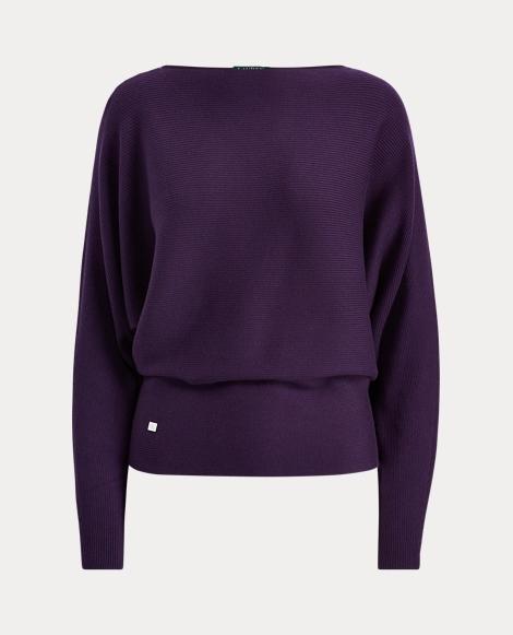 Stretch Cotton Dolman Sweater