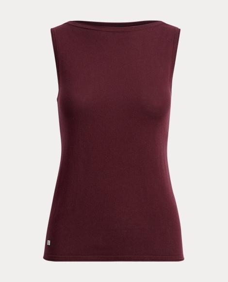Knit Silk-Blend Sleeveless Top