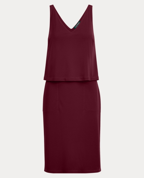 Front-Overlay Jersey Dress