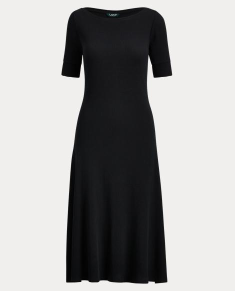 Waffle-Knit Midi Dress