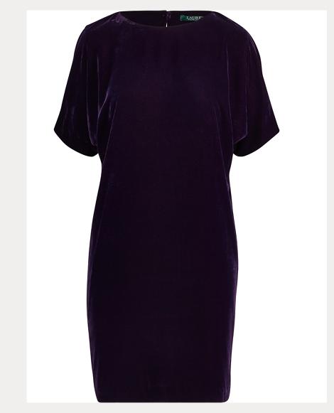 Velvet Short-Sleeve Dress