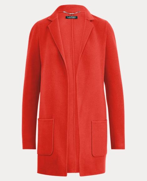 Merino Wool Open-Front Coat