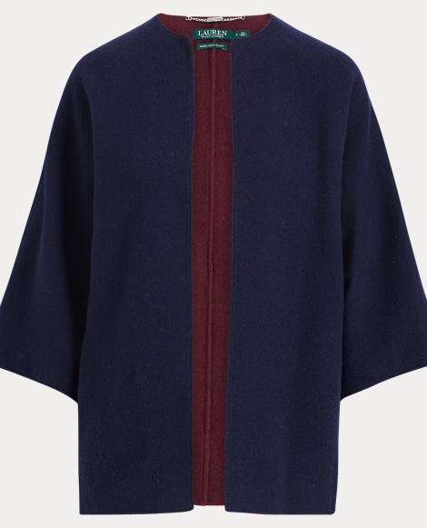 Merino Wool Open-Front Jacket