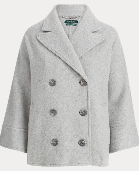 Wool Dolman Trench Coat